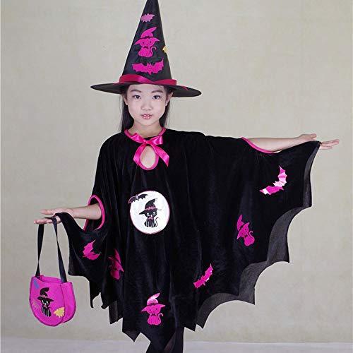 Halloween Cosplay Kostüm Tunika Hooded Robe Kapuzenmantel Cape Medieval Kapuzen-Party-Ausrüstung Kinderkleidung,L ()