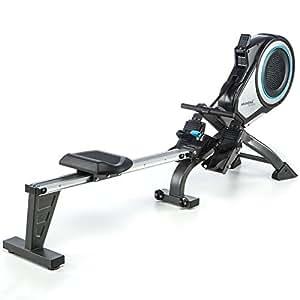 Skandika Unisex's Elite Pro Rower Machine, Grey, X-Large