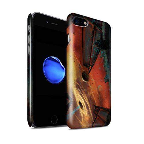 Offiziell Chris Cold Hülle / Glanz Snap-On Case für Apple iPhone 7 / Exoplanet Muster / Galaktische Welt Kollektion Schwarzes Loch