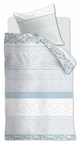 Baumwolle Floral Kopfkissenbezug (Beddinghouse Reine Baumwoll Bettwäsche 4 teilig Bettbezug 135 x 200 cm Kopfkissenbezug 80 x 80 cm Floral Ceremony 171212 Mary Lou Grey Green)