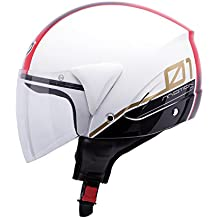 Casco Jet Mt Ventus Decorado BLANCO/ROJO T-XL