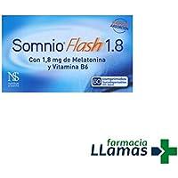 Nutrition y Santé Iberia SL SOMNIO FLASH 1.8MG DE MELATONINA VITAMINA B6 60 COMPRIMIDOS