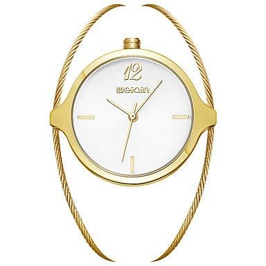 XKC-watches Herrenuhren, Damen Uhr Modeuhr Quartz Legierung Silber/Gold Analog Gelb Gelb-Weiss Hellblond (Farbe : Silber, Großauswahl : Einheitsgröße)