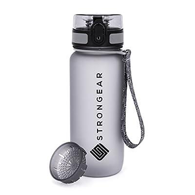 STRONGEAR Premium Sport-Trinkflasche - Fruchtsieb 650ml und 1l - BPA, BPS Frei
