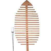 dobar Pflanzen-Rankhilfe Design in Blattform, Rankgitter aus Holz, XXL-Rankgerüst, Lärche, natur, 84x6.5x160 cm, 58211e