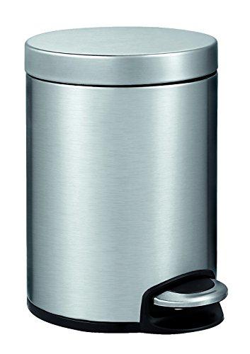 EKO Poubelle à Pédale Métal Inox 26,5 x 20,3 x 29 cm 5 litres