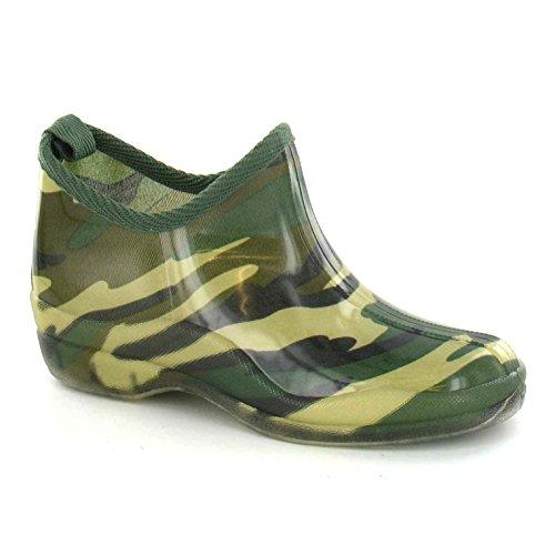 Spot On - Camouflage - Stivaletti Mimetici corti - Donna (38) (Verde )