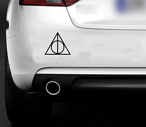 HARRY-POTTER-DEATHLY-HALLOWS-VINYL-CAR-VAN-WINDOW-BODYWORK-STICKER-MAGIC-BLACK