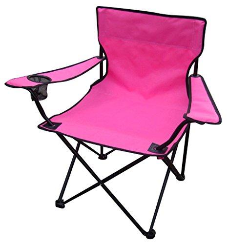 Anglersessel Campingstuhl Faltstuhl Anglerstuhl Regiestuhl Pink mit Getränkehalter und Tasche