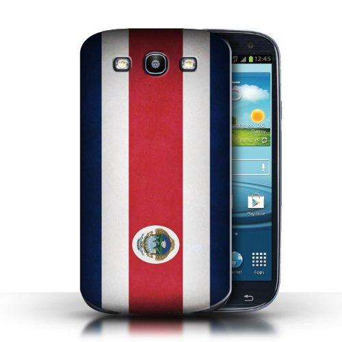 Coque en plastique pour Samsung Galaxy S3/SIII Collection Drapeau - Nigeria Costa Rica