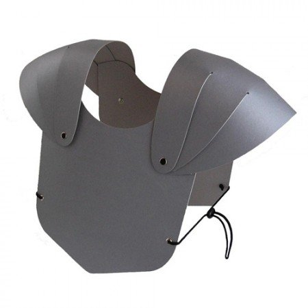 BestSaller Kinder Brustpanzer, aus stabilen Karton, silber (1 Stück) - 3