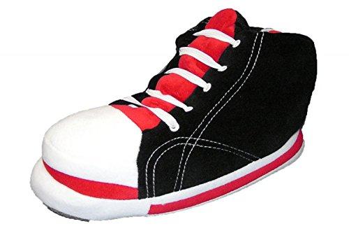 riesen-sneaker-hausschuhe-plusch-schwarz-eu-45-46