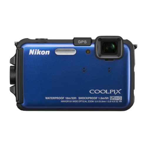 Nikon COOLPIX AW100 16 MP CMOS Waterproof Digital Camera with GPS and Full HD 1080p Video Underwater Foto Kamera Underwater Digital Video Camera