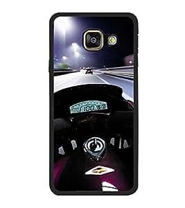 PrintVisa Designer Back Case Cover for Samsung Galaxy A7 (6) 2016 :: Samsung Galaxy A7 2016 Duos :: Samsung Galaxy A7 2016 A710F A710M A710Fd A7100 A710Y :: Samsung Galaxy A7 A710 2016 Edition (Sports Bike Motor Cycle Ride Night Light)