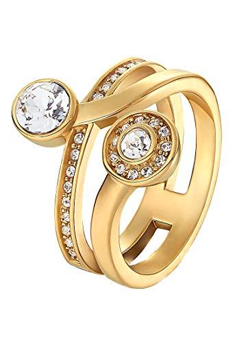 JETTE Magic Passion Damen-Ring Metall 30 Kristall gold, 51 (16.2)