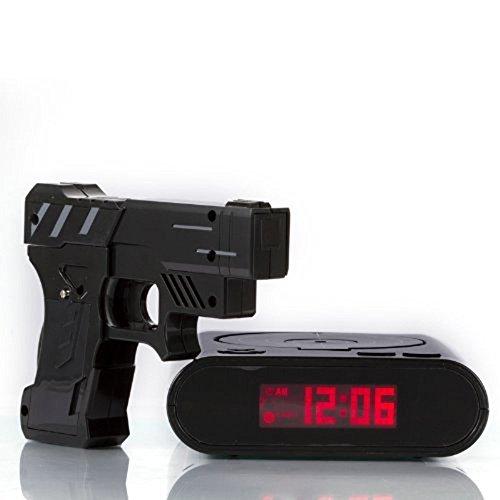 Gun Wecker Gun Clock Alarm Clock Digital Wecker Gaming Clock Uhr Schwarz Gute Idee für Weihnachtsgeschenke - 2