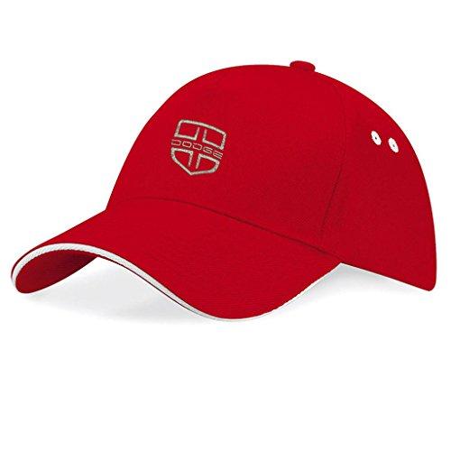 DODGE USA Bestickte Auto Logo Mütze Baseball Cap - Neu Kollektion -k135 (Rot)