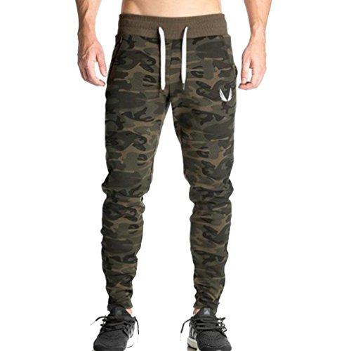 WTUS – Pantaloni sportivi – Jogger – Stile street – stile sportivo – Da uomo Verde