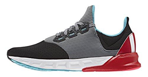 adidas Falcon Elite 5 Xj, Chaussures de Running Compétition Mixte Bébé Noir / blanc / vert (noir essentiel / blanc Footwear / vert impact)