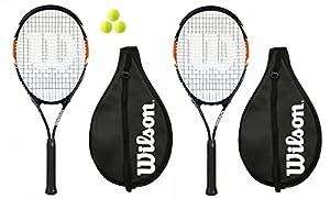 2 x Wilson Matchpoint XL Tennis Rackets + 3 Tennis Balls RRP £120 L3 Review 2018