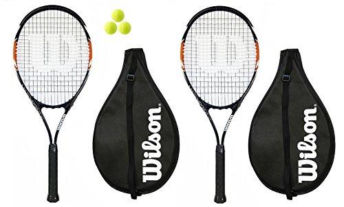 2 x Wilson Matchpoint XL Tennisschläger + Covers + 3 Bälle (Tennisschläger Wilson)