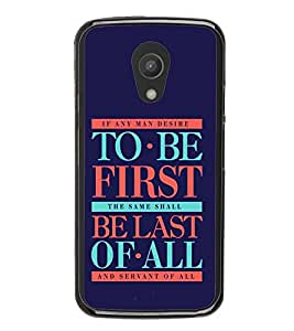 PrintVisa Designer Back Case Cover for Motorola Moto G2 :: Motorola Moto G (2nd Gen) (Quote Case Bible Verse Mark Any Man Desire Quote)