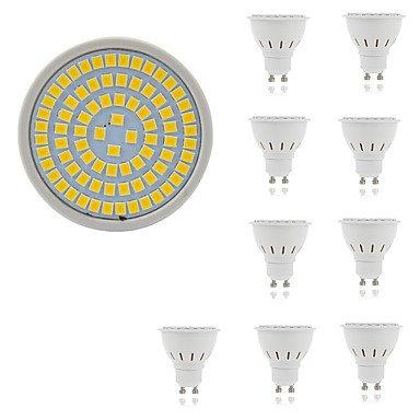 5W Spot LED MR16 80 SMD 2835 400 lm Blanc Chaud Blanc Froid Décorative AC 100-240 V 10 pièces (Connecteur : GU5.3, Couleur de source : Blanc froid)