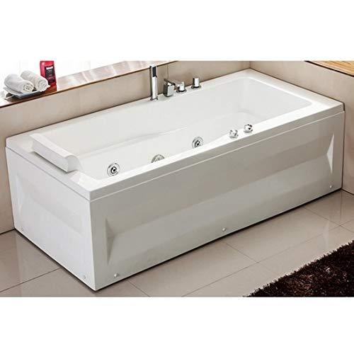 Vasca da bagno idromassaggio 170x70 per una persona rubinetteria 9 idrogetti i