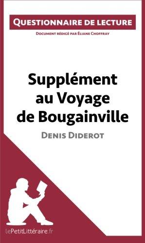 Supplment au Voyage de Bougainville de Denis Diderot: Questionnaire de lecture