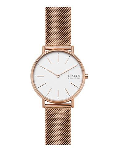 Skagen Damen Analog Quarz Uhr mit Edelstahl Armband SKW2784