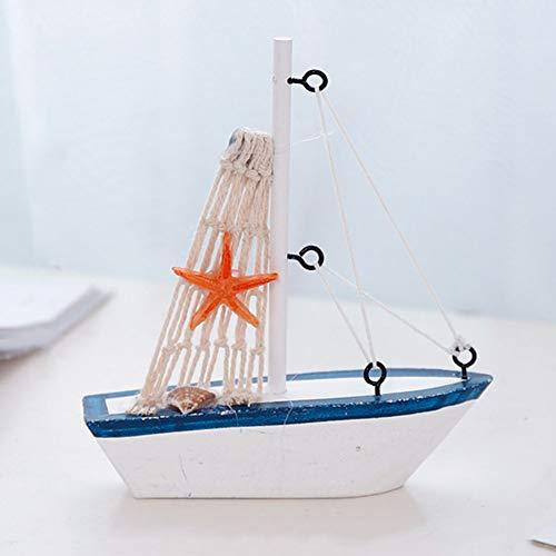 Mini-Dekofigur aus Holz, schwimmt Modell, Boot, 10,9 cm - schwimmendes Segelboot-Modell - Holz Segelmodell, Yacht Spielzeug Figur, 1, Free Size (Holz-boote-modelle)