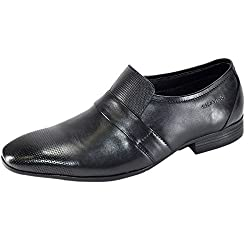 Valentino Genuine Leather VDEL11BLK Mens Fomal Shoes