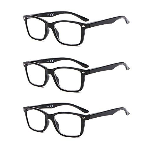 Suertree Feder Scharnier (3 Pack) Lesebrillen Sehhilfe Augenoptik Brille Lesehilfe für Damen Herren von 2.0X BM151