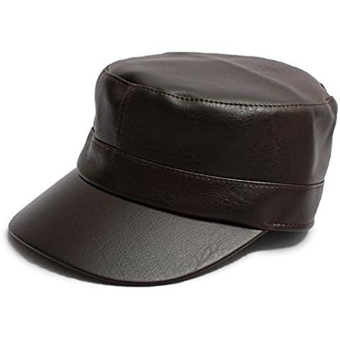 Primavera y el invierno los hombres del sombrero de cuero lavado/ hat-superior plana/ Hombre casual con sombrero/ Versión coreana de la