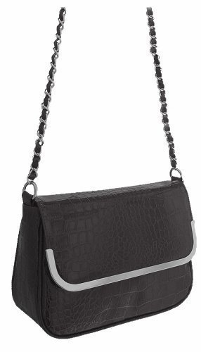 Eye Catch - Sac a main effet croco en simili cuir - Femme