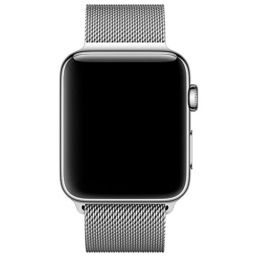 Für Apple Watch Armband 42mm, VIKATech Milanese Schlaufe Edelstahl Smart Watch Armbänder mit einzigartiger Magnetverriegelung ohne Schnalle für Apple Watch Armband 38mm Series 1 / 2 / 3, Sport, Edition, Nike+, Silber