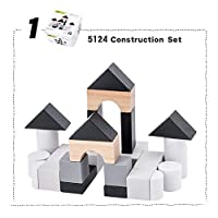 Whiie891203 Puzzle IQ Game Educational Toys,Wooden Building Blocks Domino Tangram Puzzles Fishing Game Education Toy for Kids Birthday & Christmas Gift Choice