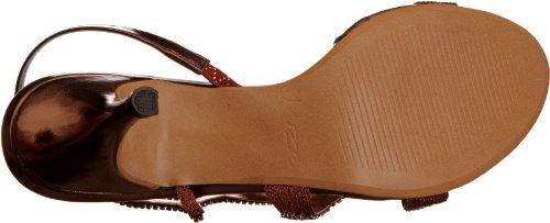 Unze Evening Sandals, Damen Sandalen Braun (L18188W)