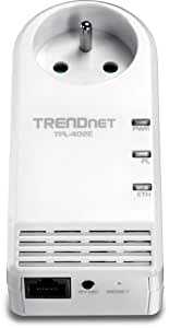 TRENDnet - Adaptateur AV Powerline 500 MBPS avec Prise Supplémentaire, TPL-402E