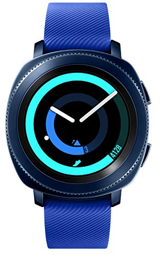 Samsung Gear Sport Smartwatch SM-R600 (Bluetooth/kompatibel mit iPhone), Blau -
