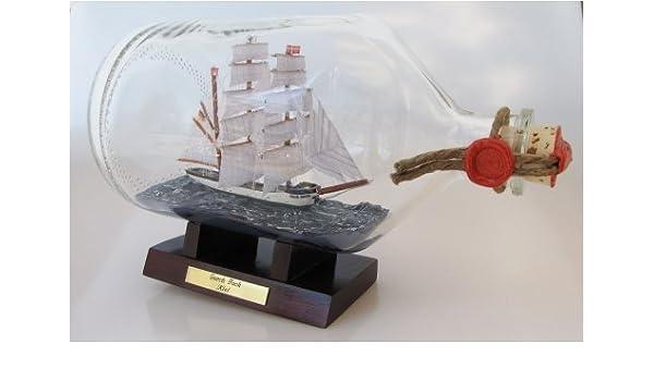 Gorch Fock 2 Liter Apothekerflasche Buddelschiff Schulschiff Bundesmarine Kiel Flaschenschiff