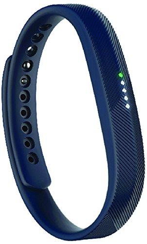 Fitbit Flex 2 Braccialetto Ultrasottile Monitoraggio Sonno e Attività Fisica, Splashproof, Cinturino Intercambiabile, Blu Marino