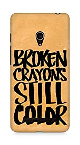 AMEZ broken crayons still colour Back Cover For Asus Zenfone 5