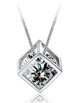 Kette Damen 925 Silber Halskette Anhänger by bravetzx