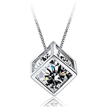Donne Gioielleria 925 Sterling Silver Cubic Zirconia collane con pendente Ciondolo by Bravetzx