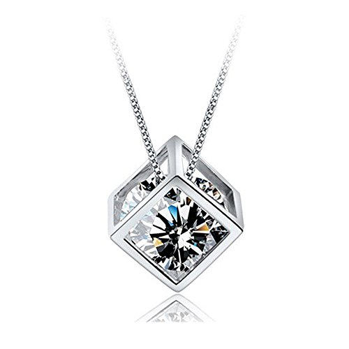 Kette Damen 925 Silber Halskette Anhänger by Tasnunisa