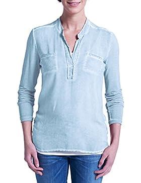 Eddie Bauer Damen Shirtbluse im Materialmix