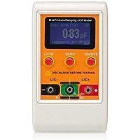 GYC Medidor de Alta precisión portátil M4070 LCR de Rango automático hasta 100H 100mF 20MR, 1% de precisión Pantalla de 5 dígitos Herramienta de medición Naranja