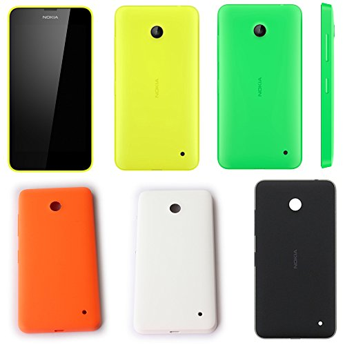 Image of Digi4u OEM Replacement Back Battery Cover Housing Repair Part for Nokia Lumia 630 (Black)