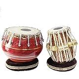 SG Musical golden tabla set, 3 kg Brass bayan, Sheesham Meena Dayan